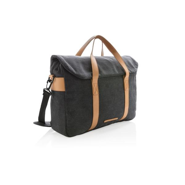 Canvas laptop tas PVC vrij